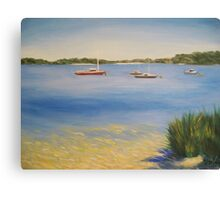Serene Harbour - boats at Point Walter, Western Australia Canvas Print