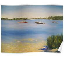 Serene Harbour - boats at Point Walter, Western Australia Poster
