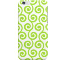 LimeGreen Geometric Swirl Pattern iPhone Case/Skin