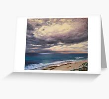 Sunrise on a Stormy Beach Greeting Card