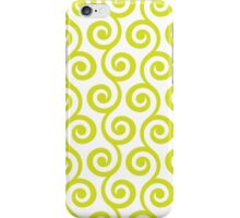 Chartreuse Geometric Swirl Pattern iPhone Case/Skin