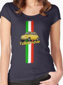 Fiat 500 Italian Lover Women's Fitted Scoop T-Shirt