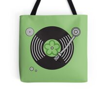 Groovy Green Record Player Tote Bag