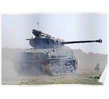 WW2 Sherman Tank Poster