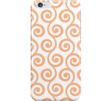 Peach Geometric Swirl Pattern iPhone Case/Skin