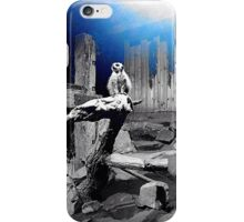 Mr blue meerkat  iPhone Case/Skin