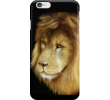 Beautiful Lion against a black background. iPhone Case/Skin