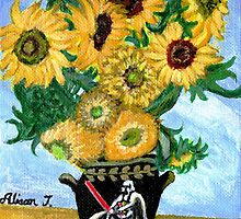 Sunflowers in Darth Vader Vase by alisontsoi