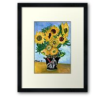 Sunflowers in Darth Vader Vase Framed Print
