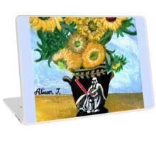 Sunflowers in Darth Vader Vase Laptop Skin
