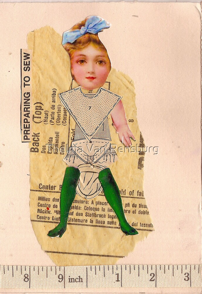 Anatomy of a doll 5 by Thelma Van Rensburg