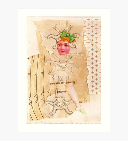Anatomy of a doll 1 Art Print