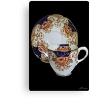 ❦ ❧ CHINA CUP AND SAUCER ❦ ❧ Canvas Print