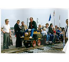 First electric train, Bochum, Germany, 1985. Poster