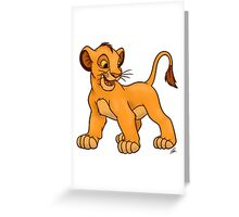 Simba in the Lion king  Greeting Card