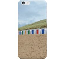 Beach huts,Woolacombe,North Devon,England iPhone Case/Skin