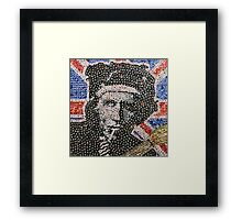 The Keith - Bottle Cap Mosaic Framed Print