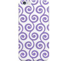 Lavander Geometric Swirl Pattern iPhone Case/Skin