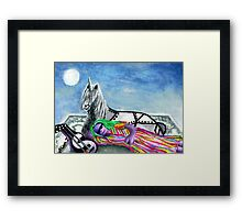 Unicorn and The Sleeping Robot Framed Print