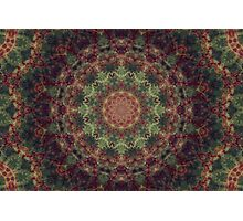 Mandala green Photographic Print