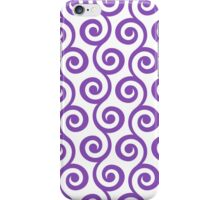 LightPurple Geometric Swirl Pattern iPhone Case/Skin