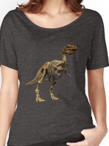 Dinosaur skeleton  Women's Relaxed Fit T-Shirt