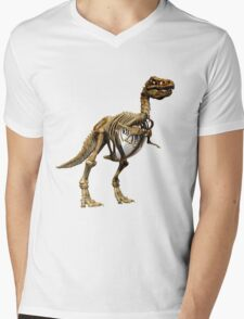 Dinosaur skeleton  Mens V-Neck T-Shirt