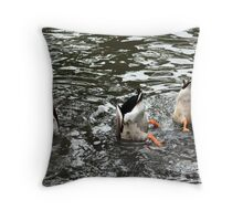 Duck Tails Throw Pillow