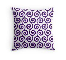 Purple Geometric Swirl Pattern Throw Pillow