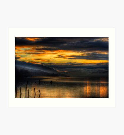 Golden Hour on Loch Ness Art Print