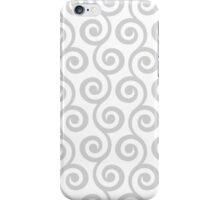 LightGrey Geometric Swirl Pattern iPhone Case/Skin