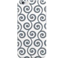 CoolGrey Geometric Swirl Pattern iPhone Case/Skin