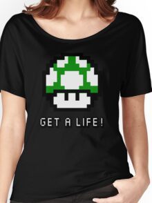 Mario Mushroom Get A Life Women's Relaxed Fit T-Shirt