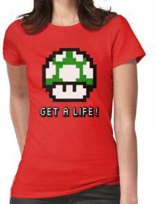 Mario Mushroom Get A Life Womens Fitted T-Shirt