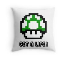 Mario Mushroom Get A Life Throw Pillow