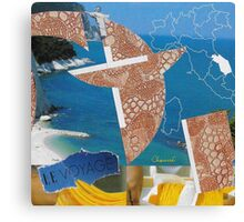 Collage Italy-Italie Inspiration Trip-Voyage Canvas Print