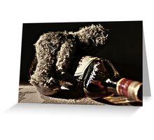 Obsessed bear .... Greeting Card