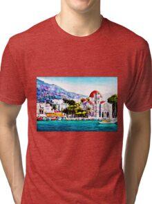 Tranquil harbour Tri-blend T-Shirt