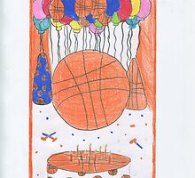 Birthday Basketball by DKards