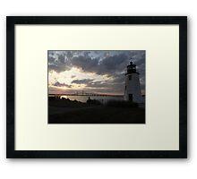 Goat Island Light Framed Print