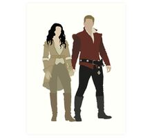 Snow White and her Prince Charming Art Print