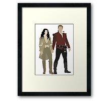 Snow White and her Prince Charming Framed Print