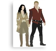 Snow White and her Prince Charming Canvas Print