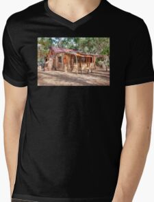 Country Cabin Mens V-Neck T-Shirt