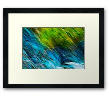 Splashing down the rocks Framed Print