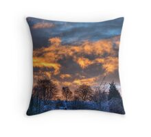Fire In The Sky... Throw Pillow