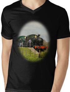 Steam Train T-shirt, just the present for Father's Day Mens V-Neck T-Shirt