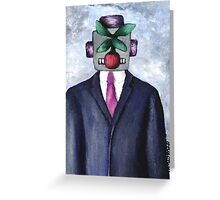 Robot with Apple Greeting Card