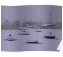 The Lake District: On Frozen Pond Poster