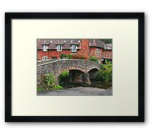 My England.  Packhorse Bridge at Allerford Somerset Framed Print